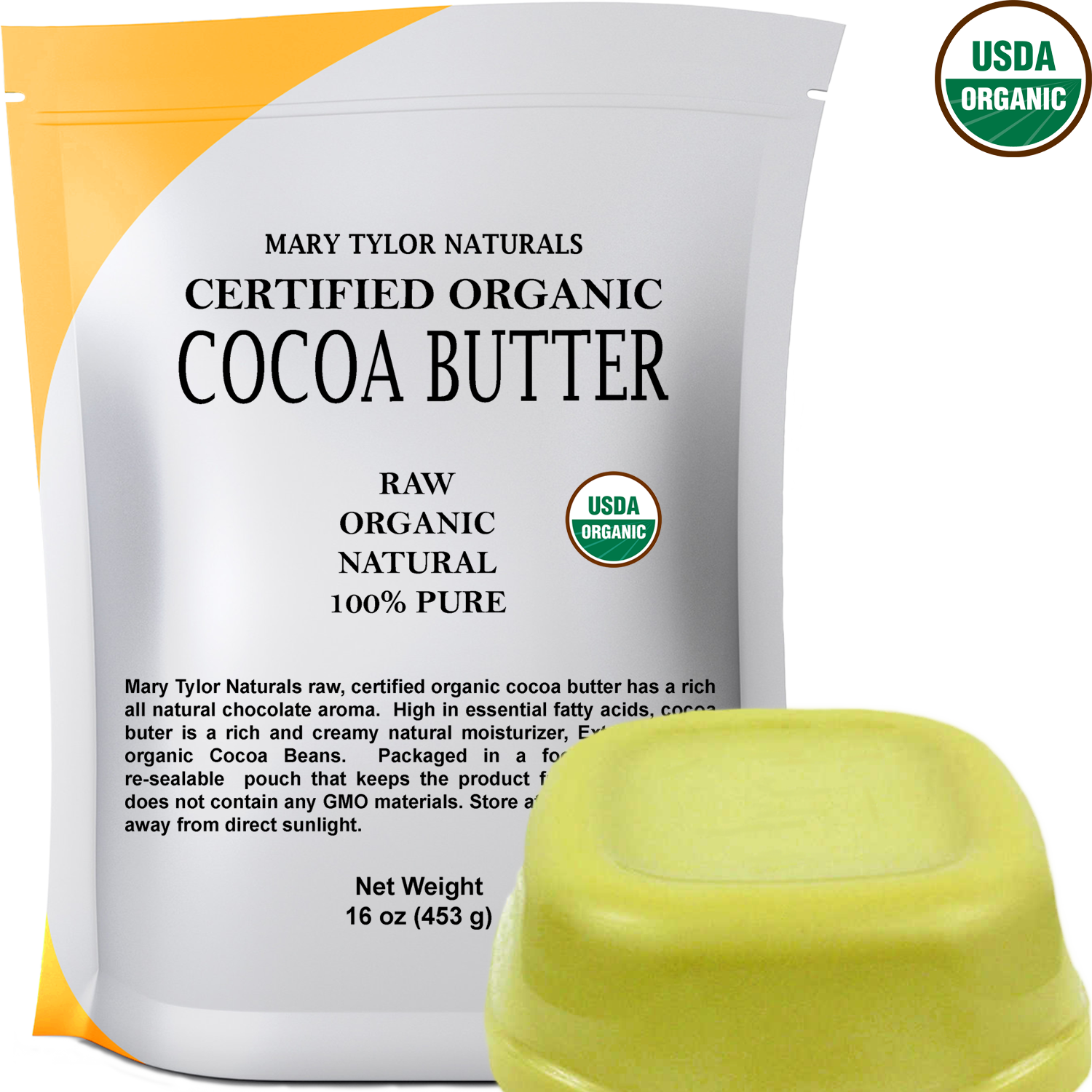 organic cocoa butter by mary tylor naturals