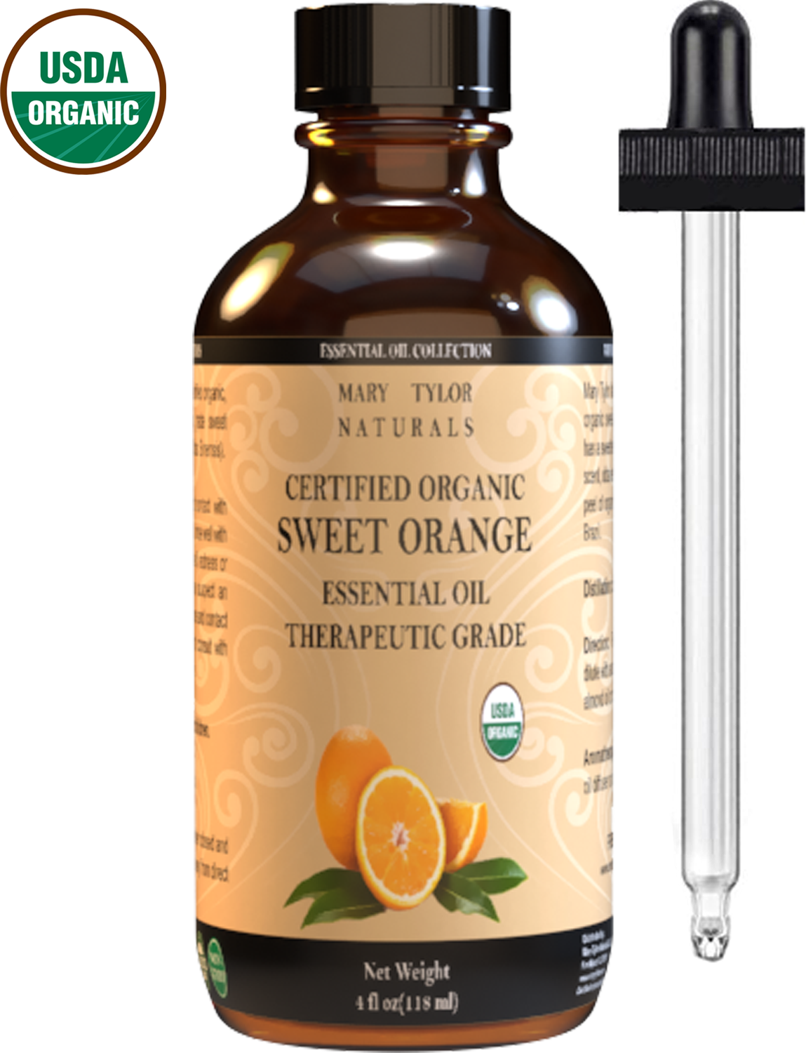 organic orange essential oil by mary tylor naturals