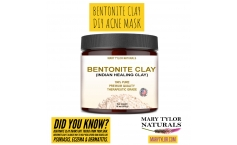 DIY Bentonite Clay Acne Mask - an Organic way to keep your face fresh, clean & glowing