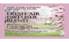 Diffuser Recipe Blend: Fresh Air Scent